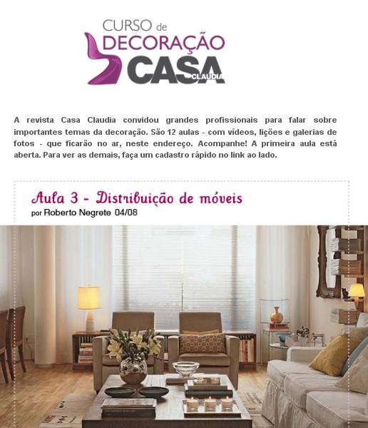 Curso de Decoracao - Casa Claudia