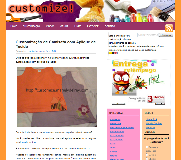 Blog sobre Customização - customize.marielydelrey.com