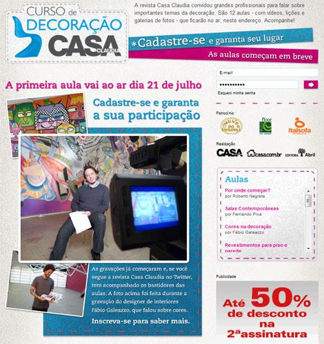 Curso de Decoracao Casa Claudia 2010