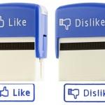 Botão Curtir do Facebook vira carimbo na vida real