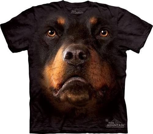 Camiseta com cara de cachorro - Rottweiler