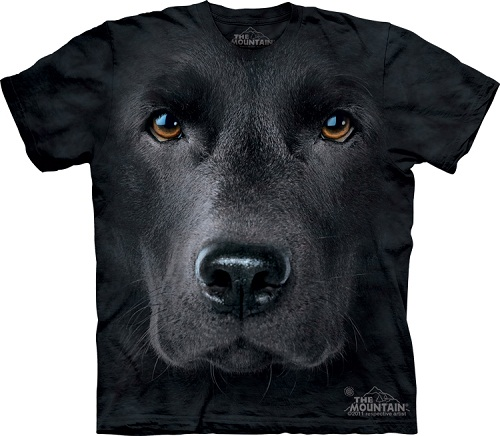Camiseta com cara de cachorro - Labrador