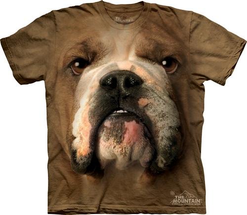 Camiseta com cara de cachorro - Bulldog