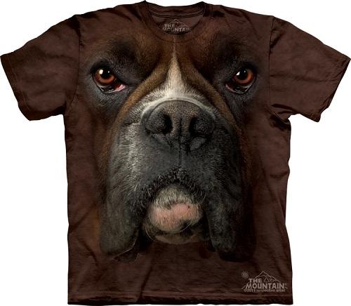 Camiseta com cara de cachorro - Boxer