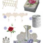 Itens provençal/vintage para decorar o quarto