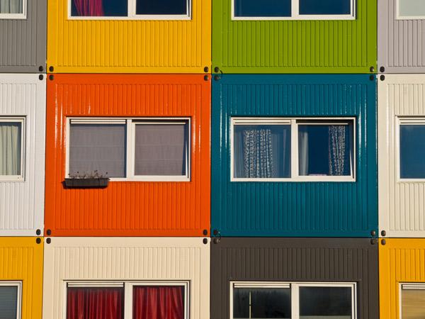 Casa feita com container