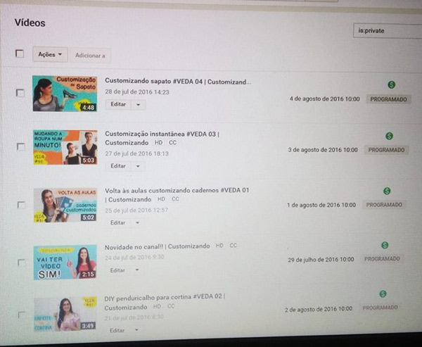 Como gravar VEDA no YouTube