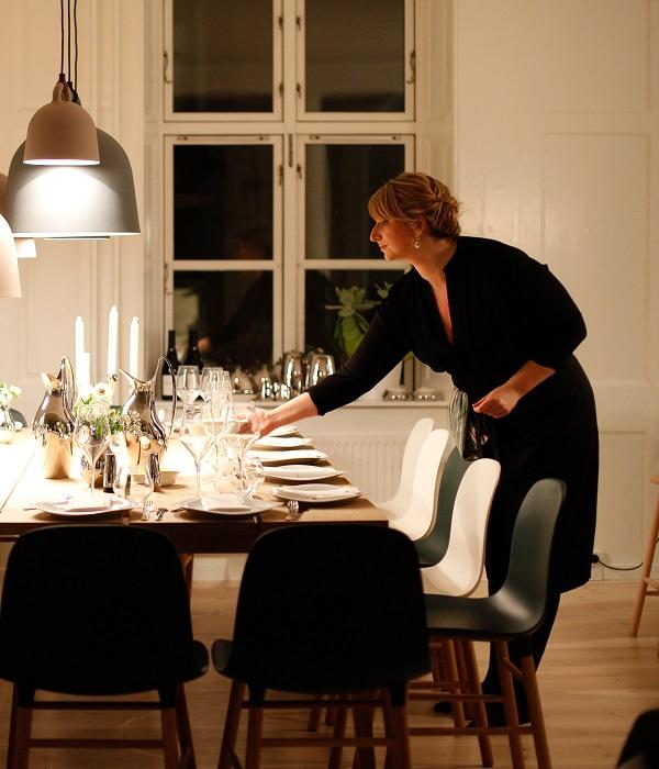 jantar em casa, receber amigos