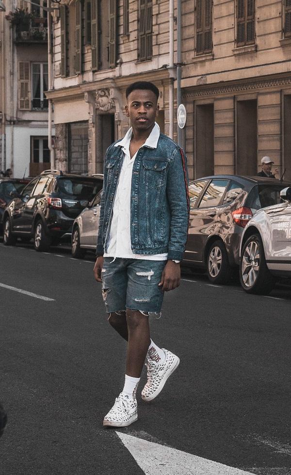 shorts jeans para homem