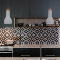 decoração cozinha preta e branca