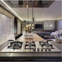 Decoração de cozinha com cooktop