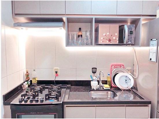 Decoração de cozinha com depurador
