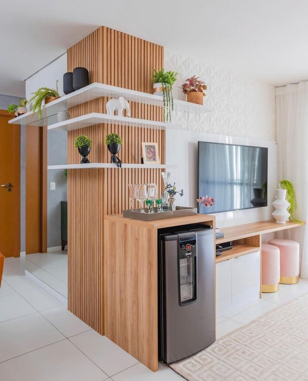 Decoração sala dois ambientes
