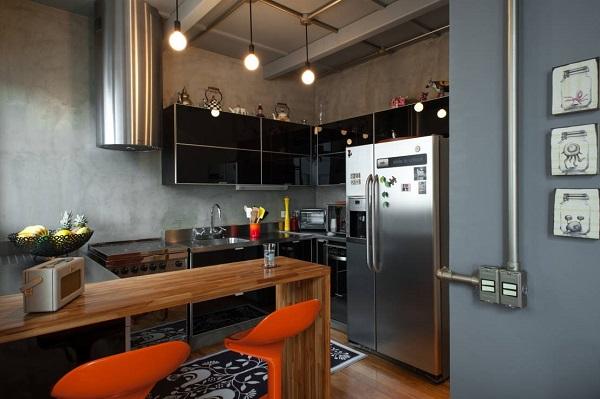 decoração de cozinha com móveis modulados